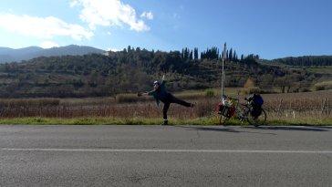 Route en Ligurie, en Italie