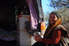 Adrienne, une amie de la route